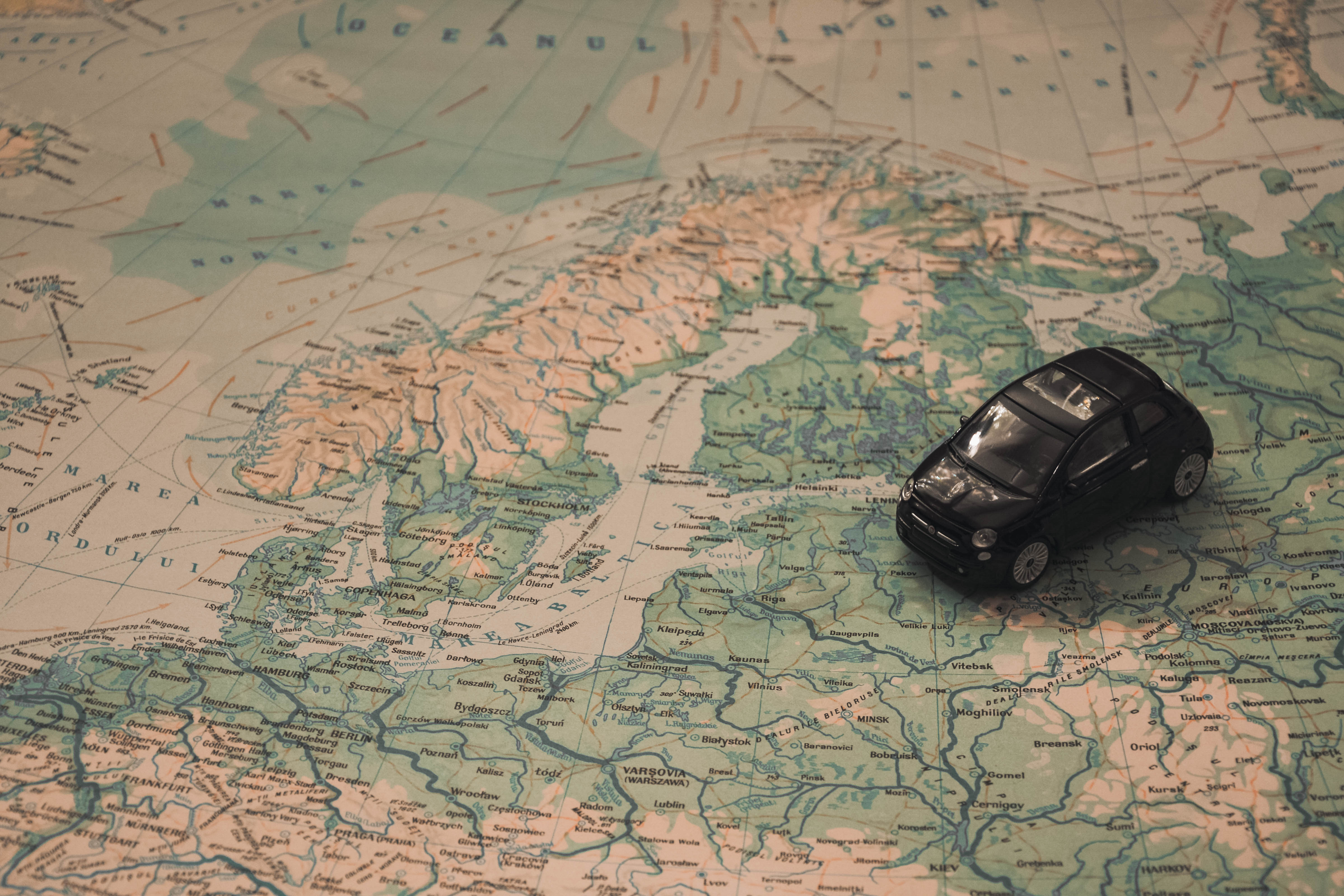 car on map going to gap year