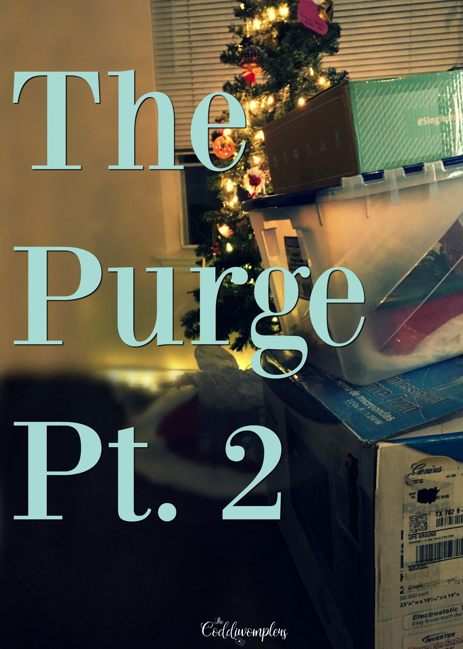 Yes, it is time again to go through all of my stuff and figure out what has to go, with this part 2 of the purge being the hardest